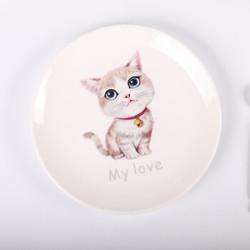 陶瓷盘子创意卡通西餐盘儿童餐具浅盘