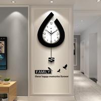 北欧钟表挂钟客厅个性创意时尚时钟大气现代简约家用静音石英钟表