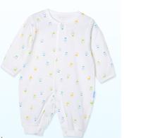 贝贝怡婴儿连体衣春装纯棉长袖初生儿哈衣宝宝空调服爬服BB1100 *6件