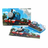 大手牵小手 托马斯拼图小火车 托马斯铁盒60片