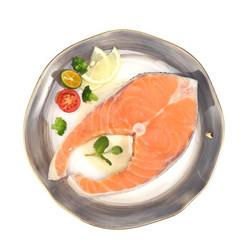 通威鱼 智利冷冻轮切三文鱼排(大西洋鲑) 250g *16件