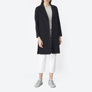 WEEKEND MaxMara 深蓝色女士羊毛大衣