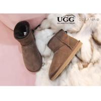 OZLANA UGG 防水羊皮毛一体加绒低筒经典款雪地靴