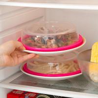 家用冰箱硅胶保鲜盖微波炉专用加热盖塑料饭盒盖子圆形配件