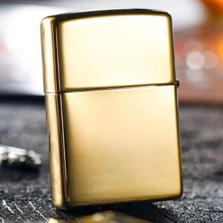 ZIPPO 之宝 254BJB.929 纯铜贴章金色 点烟器
