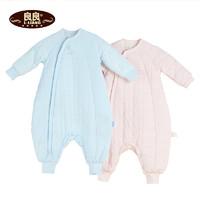 良良LIANGLIANG 婴儿秋冬睡袋 宝宝分腿睡袋防踢被新生儿加厚幼儿童被子纯棉3-18个月75cm *4件