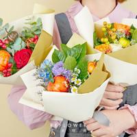 值友专享:REFLOWER 花点时间 感恩节定制款「果然幸运」3束花+3只手提袋 鲜花订阅