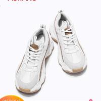 奥康女鞋 2019新款时尚韩版拼色复古老爹鞋运动休闲鞋女学生