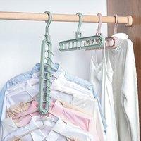 多功能衣架家用纯色阳台折叠收纳创意旋转挂衣服防滑晾晒衣架