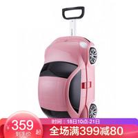 外交官Diplomat 儿童旅行箱卡通汽车PP材质拉杆箱 甲壳虫箱子  TP-207A 粉色