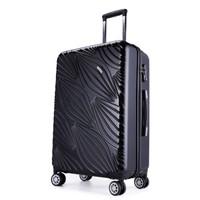 外交官行李箱新品PC拉杆箱20英寸登机箱万向轮旅行箱男女学生箱TC-623系列 黑色 24英寸