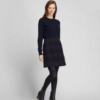 UNIQLO 优衣库 422230 女款羊毛混纺迷你裙