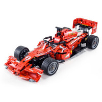 新森宝 积木玩具F1赛车模型小汽车遥控车男孩玩具仿真儿童成人礼物 仿真法拉利FRR-F1