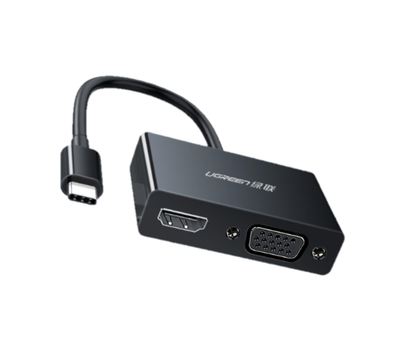 UGREEN 绿联 MM123 Type-C转HDMI/VGA高清线转换器