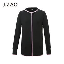 J.ZAO 京东京造 100003873518 女士运动长袖拉链衫