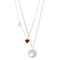 Swarovski 施华洛世奇 5370071 镀铑心形水晶项链