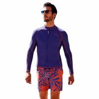 BALNEAIRE 范德安 分体泳衣男士沙滩度假长袖防晒上衣