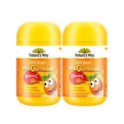 Nat ure's way 佳思敏 儿童维生素C+锌软糖 60粒 2瓶装 *2件