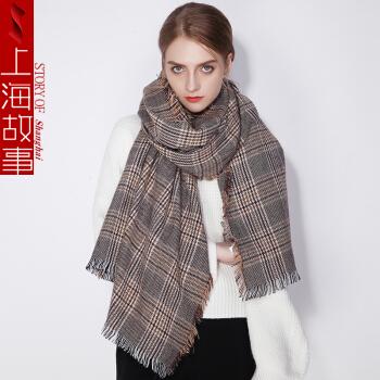 上海故事 冬季仿羊绒披肩围巾