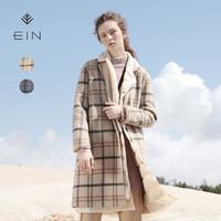 EIN 言 EC2002941 女款格子羊毛外套