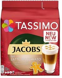 Tassimo Jacobs Typ 拿铁 玛奇朵 姜饼 胶囊咖啡 5 包装 T Discs (5 × 8 杯) *2件
