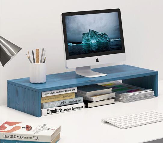 零梦 蓝松木色  创意简约桌上置物架