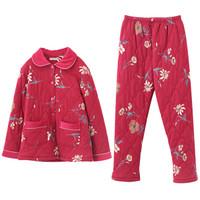 Daerli 达尔丽 T897103-009 女家居服套装 枣红色 M