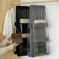 布艺包包收纳挂袋悬挂式家用挎包整理袋衣柜收纳架墙挂式宿舍利器
