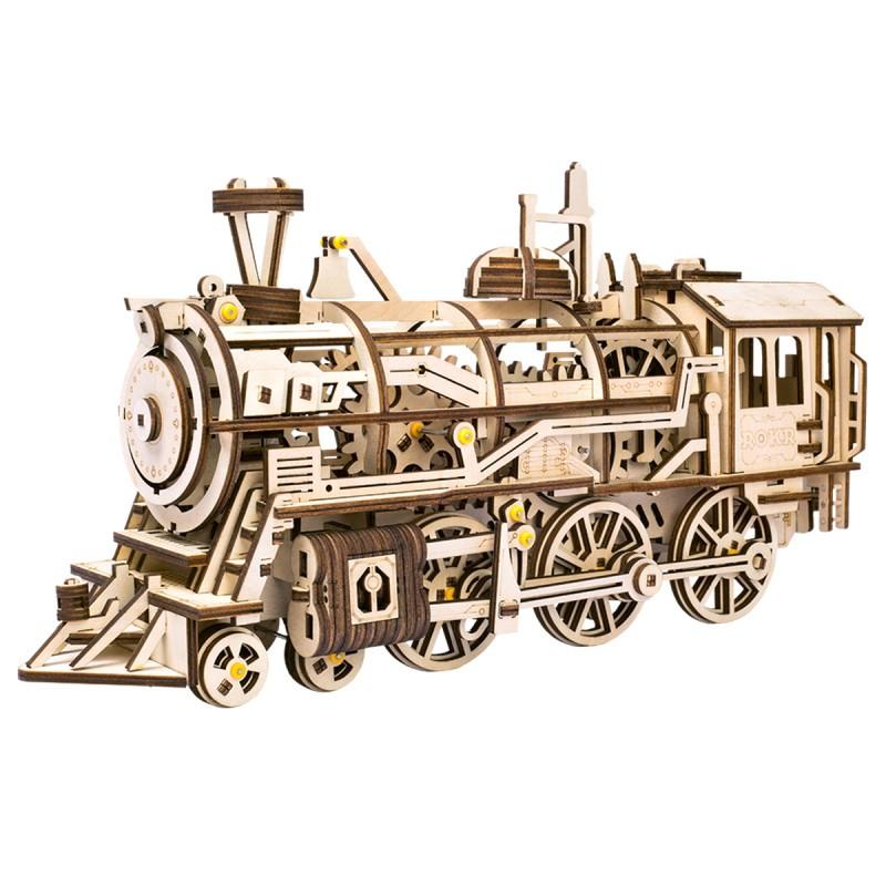 Robotime 若态 木质机械传动模型 LK701 激光火车头