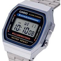 CASIO 卡西欧 A168W-1 男士不锈钢手表 *2件