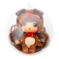 汇奇宝 冬己正版迷糊娃娃换装女孩仿真公主洋娃娃圣诞节装小饰品玩具生日礼物 圣诞娃娃 *3件