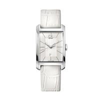 Calvin Klein卡尔文·克莱恩 方形白色皮革CK时尚女士石英表 K2M23120 欧美品牌