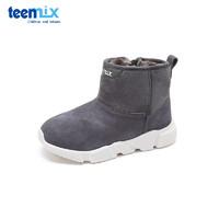 Teenmix 天美意童鞋 冬季保暖6-15岁儿童靴子男童女童加绒皮靴雪地靴 DX0528 30-37码 *2件