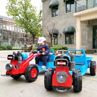 儿童手扶拖拉机电动可坐人双人1-3岁3-6岁男女宝宝婴玩具车东方红