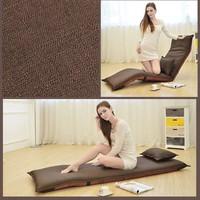 缘诺亿 懒人沙发可折叠榻榻米单人地板卧室沙发C2#(深咖色)