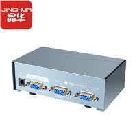 JH 晶华 VGA分配器一分二 高清视频1进2出分频器 VGA显示器视频扩展器280MHZ 灰色V2802