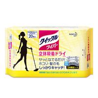 花王(KAO)干式拖布替换装20枚 轻便家用清洁纸巾免手洗(日本原装进口) *2件