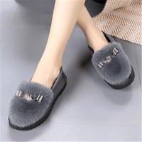 冬季保暖厚底毛毛鞋