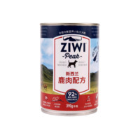 ZiwiPeak 巅峰 主食狗罐头 鹿肉 390g/罐 *4件