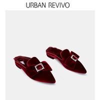 URBAN REVIVO AU02SS4N2001 女士蝴蝶结拖鞋