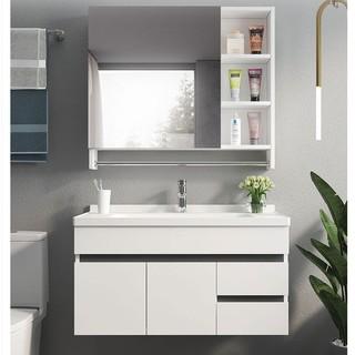 Uniler 联勒 实木免漆浴室柜 清风经典款80cm 雅白