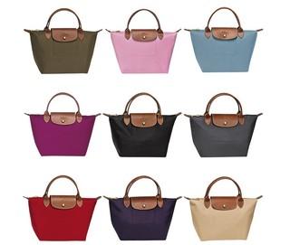 LONGCHAMP 珑骧 Le Pliage系列 女款小号尼龙短柄可折叠手提包