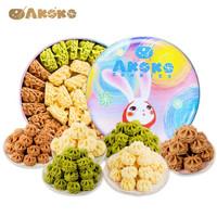 AKOKO 曲奇饼干三拼 原味+咖啡+抹茶 礼盒 560g *3件