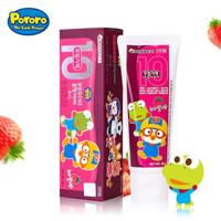 啵乐乐十无儿童牙膏80g(香蕉草莓两种口味任选) *4件