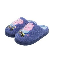 呓喔 小猪佩奇儿童棉拖鞋