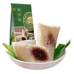 知味观 细沙粽 杭州特产家乡粽子真空2只装 豆沙粽 甜粽子 散装280g *51件