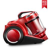 格力吸尘器家用小型迷你强力卧式大功率静音地毯除螨家用大吸力小型强力手持式大功率超静音除螨机小米粒 红色