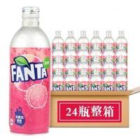 Coca-Cola 可口可乐 芬达白桃水蜜桃味碳酸汽水 500ml*24