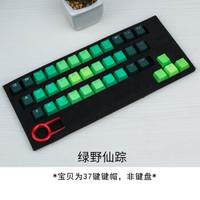 京臣 PBT键帽彩虹透光个性 侧刻DIY机械键盘键帽 青轴黑轴37键彩色键帽 绿野仙踪