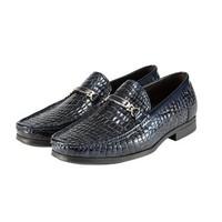 考拉工厂店 进口石头纹漆牛皮商务皮鞋